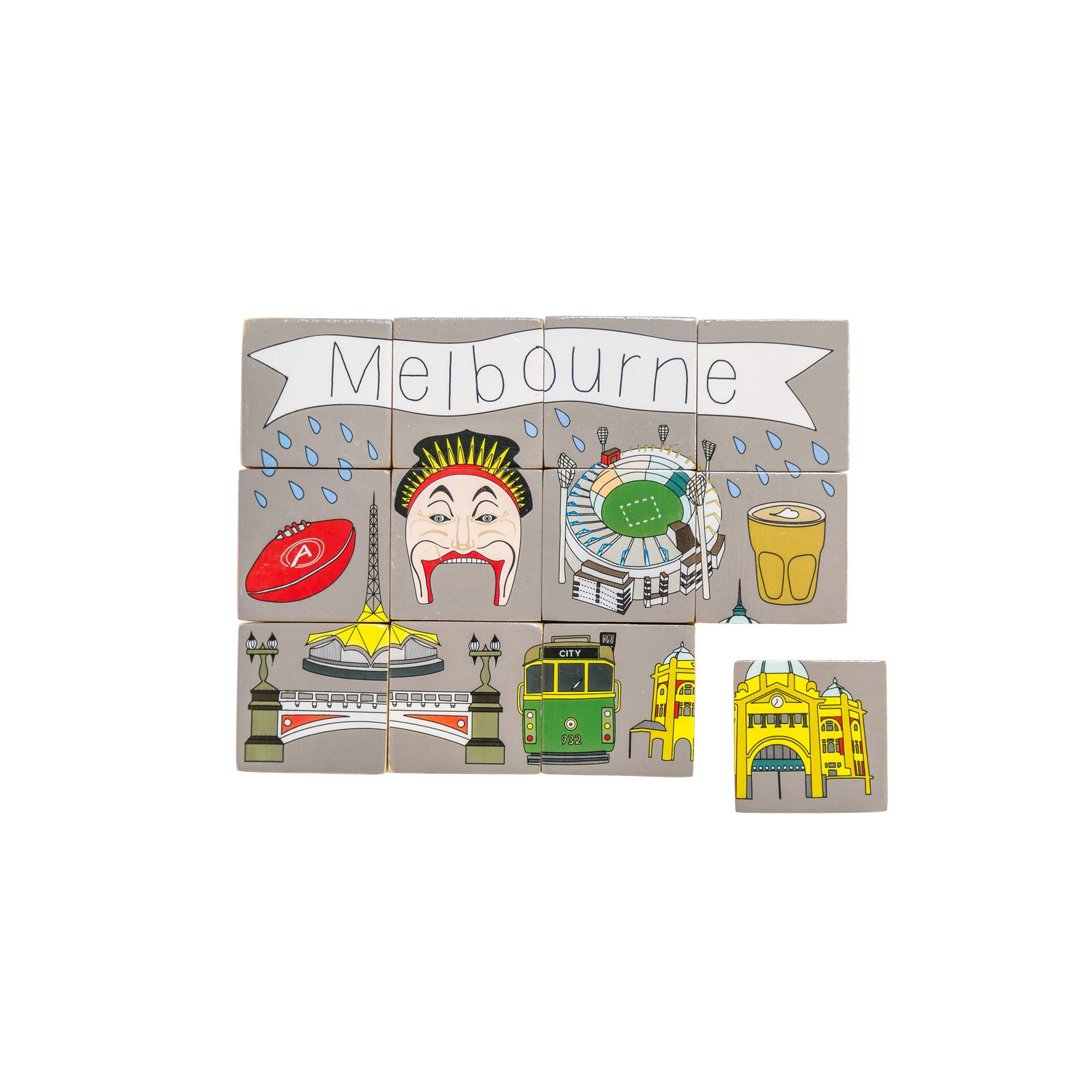 Make Me Iconic Stacking Blocks Make Me Iconic Wooden Blocks Melbourne at Little Earth Nest Eco Shop