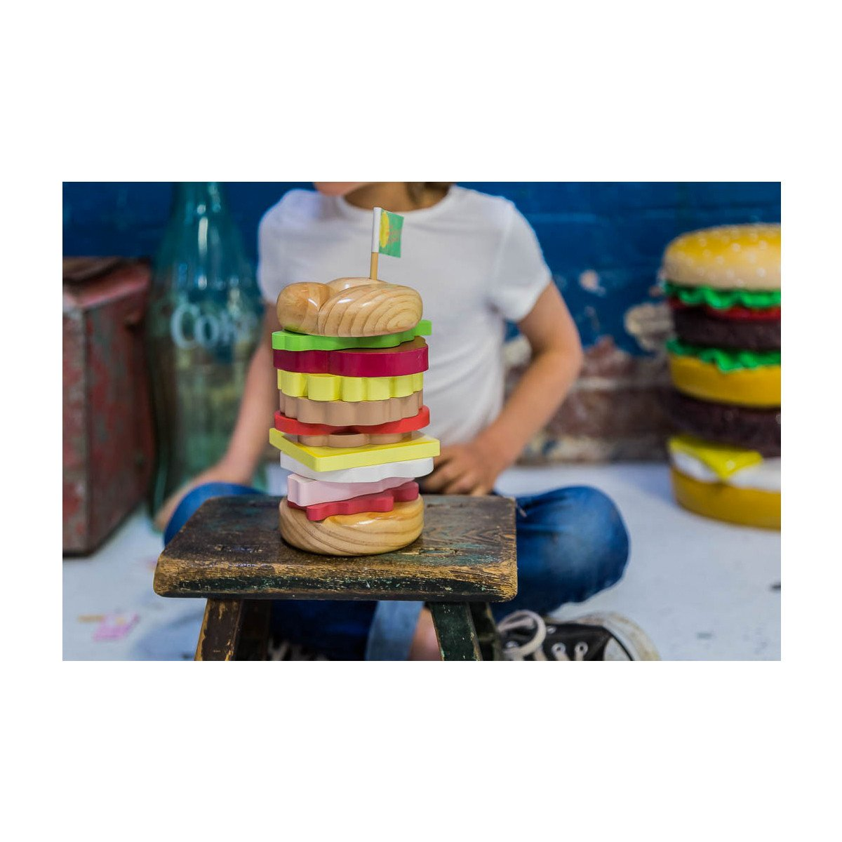 Make Me Iconic Stacking Burger Make Me Iconic Sorting and Stacking Toys at Little Earth Nest Eco Shop