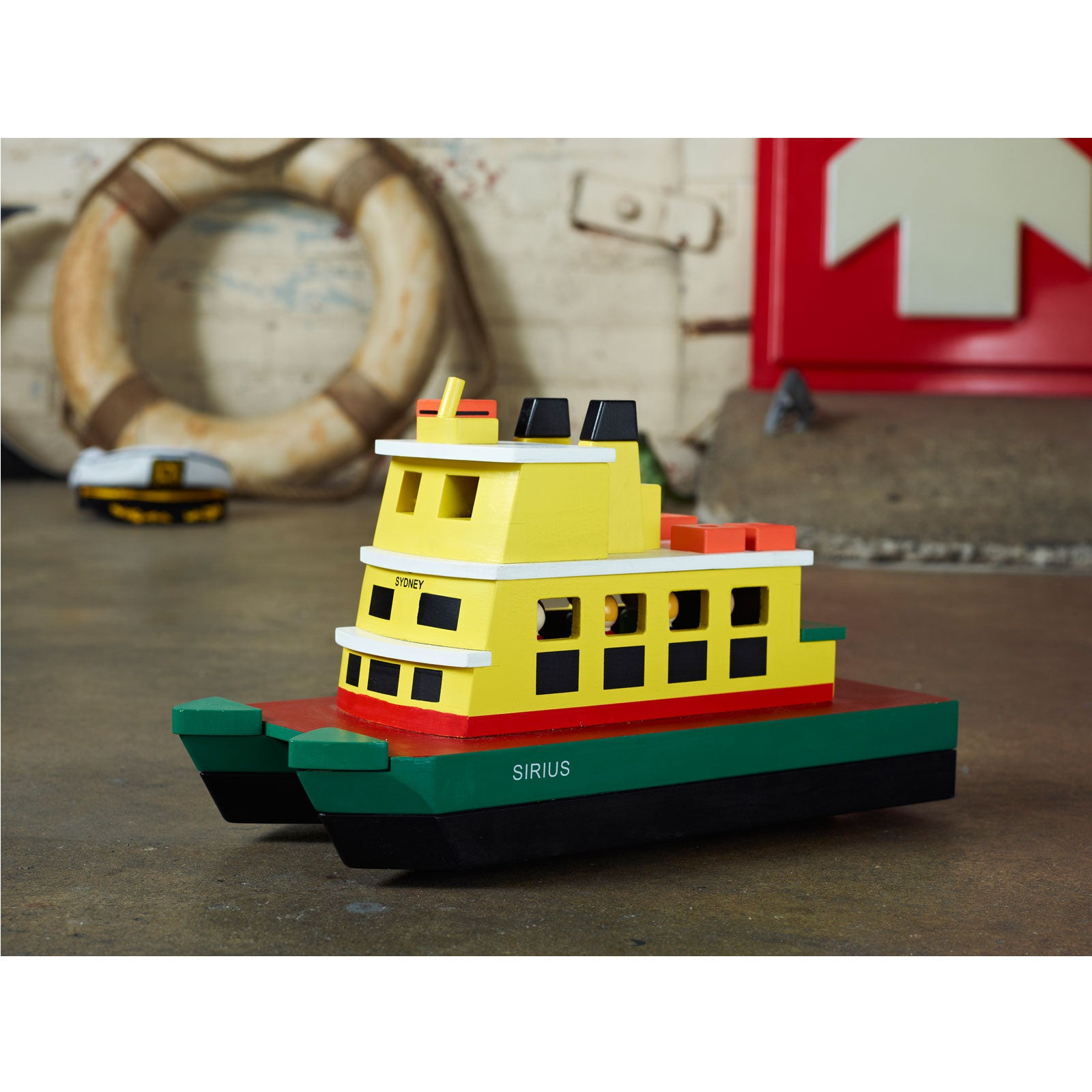 Make Me Iconic Wooden Sydney Ferry Toy Make Me Iconic Toy Boats at Little Earth Nest Eco Shop