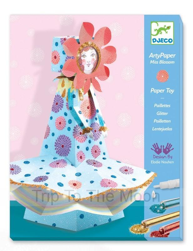 Miss Blossom Arty Paper by Djeco Djeco Art and Craft Kits at Little Earth Nest Eco Shop