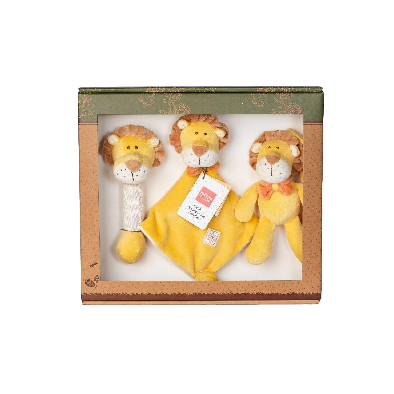 Miyim Organic Soft Toy Gift Set Miyim Toys Lion at Little Earth Nest Eco Shop