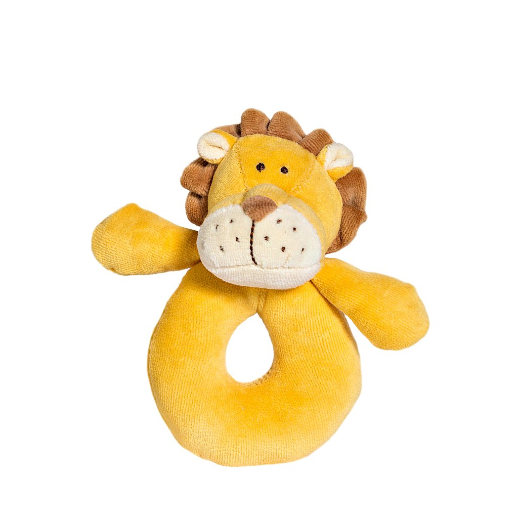 Miyim Ring Rattle Miyim Rattles Lion at Little Earth Nest Eco Shop