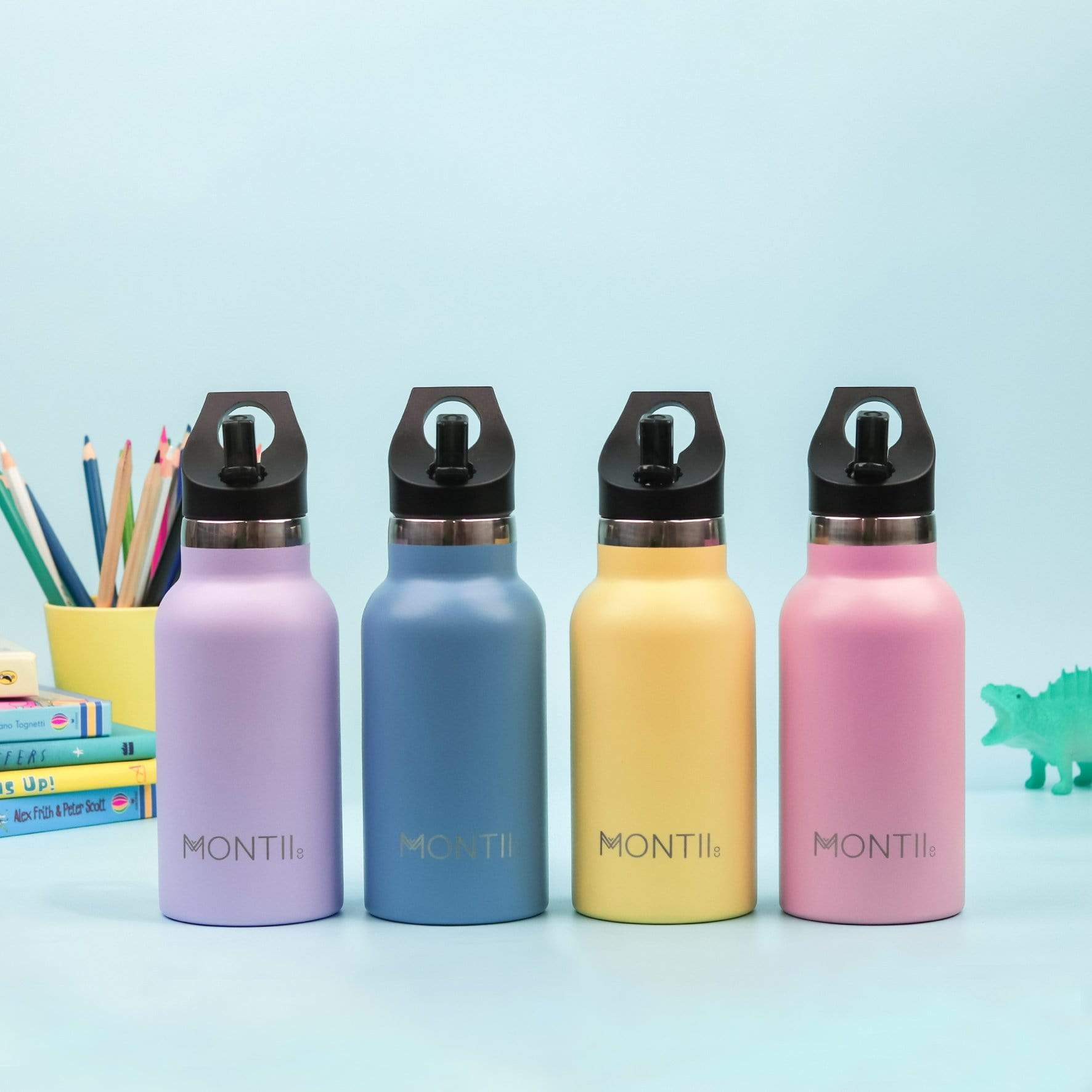 Montii Co Kids Insulated Bottle 350ml Montii Water Bottles at Little Earth Nest Eco Shop