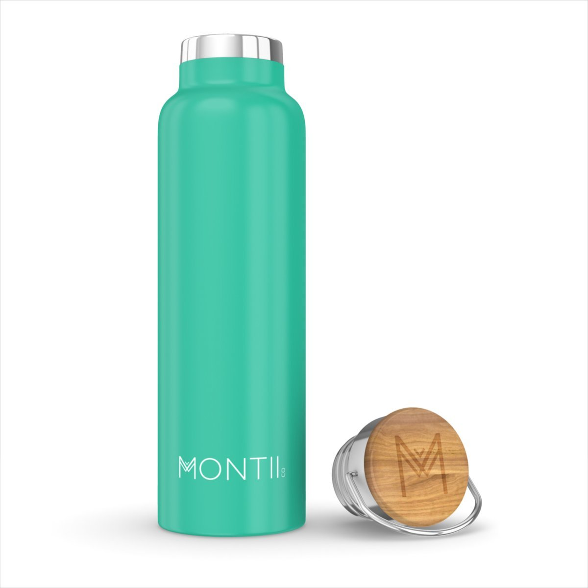 Montii Co Insulated Bottle 600ml Montii Water Bottles Green at Little Earth Nest Eco Shop