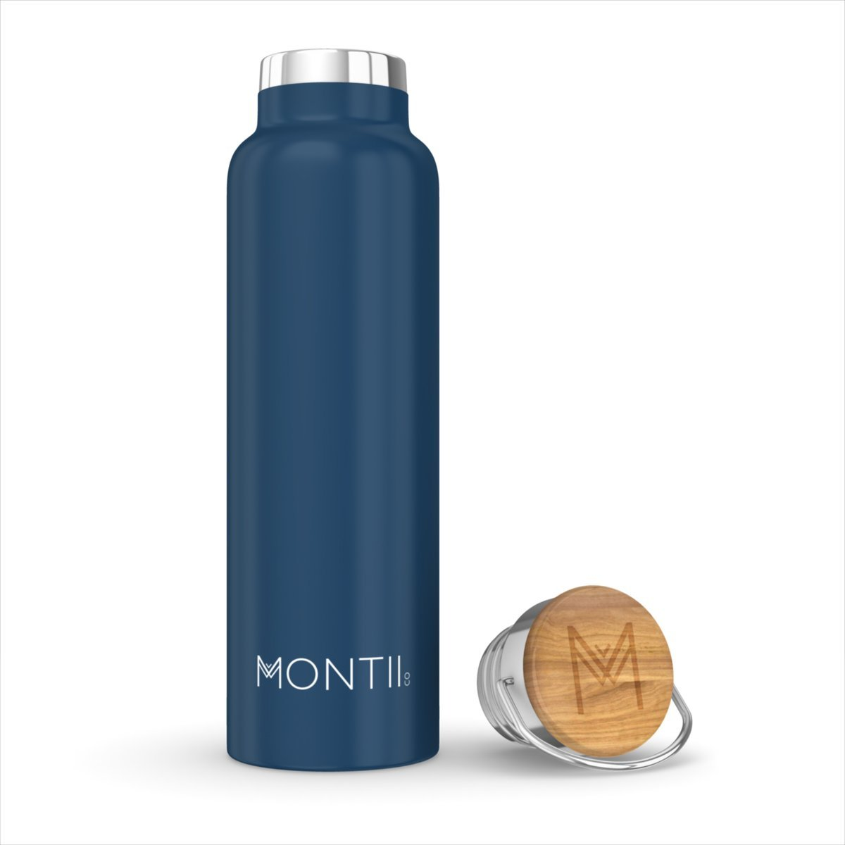 Montii Co Insulated Bottle 600ml Montii Water Bottles Navy at Little Earth Nest Eco Shop