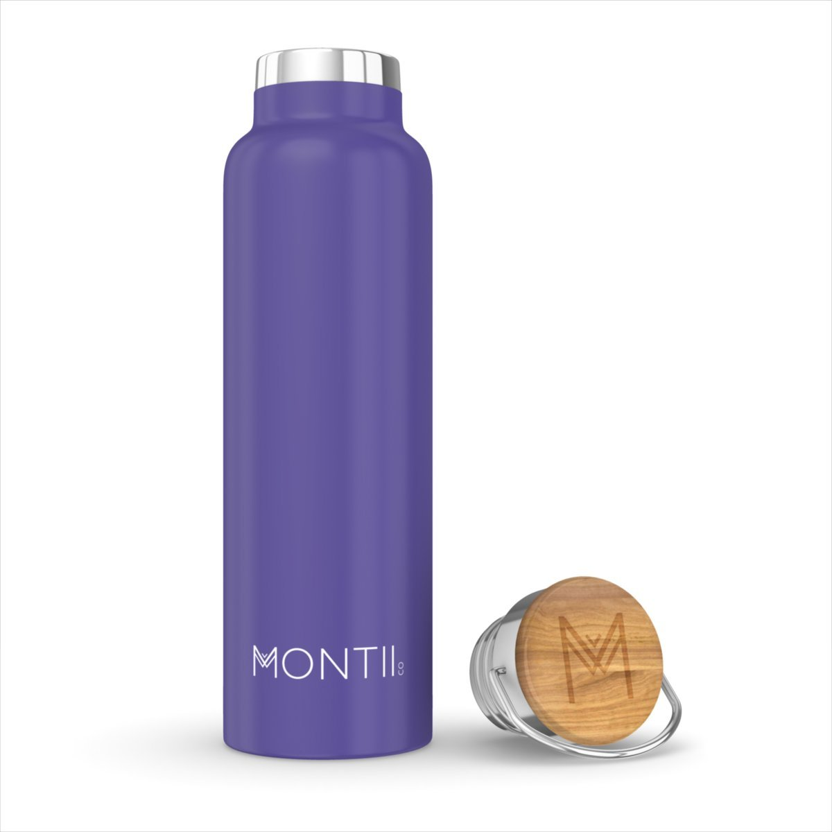 Montii Co Insulated Bottle 600ml Montii Water Bottles Purple at Little Earth Nest Eco Shop