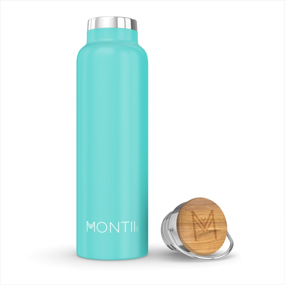 Montii Co Insulated Bottle 600ml Montii Water Bottles Teal at Little Earth Nest Eco Shop