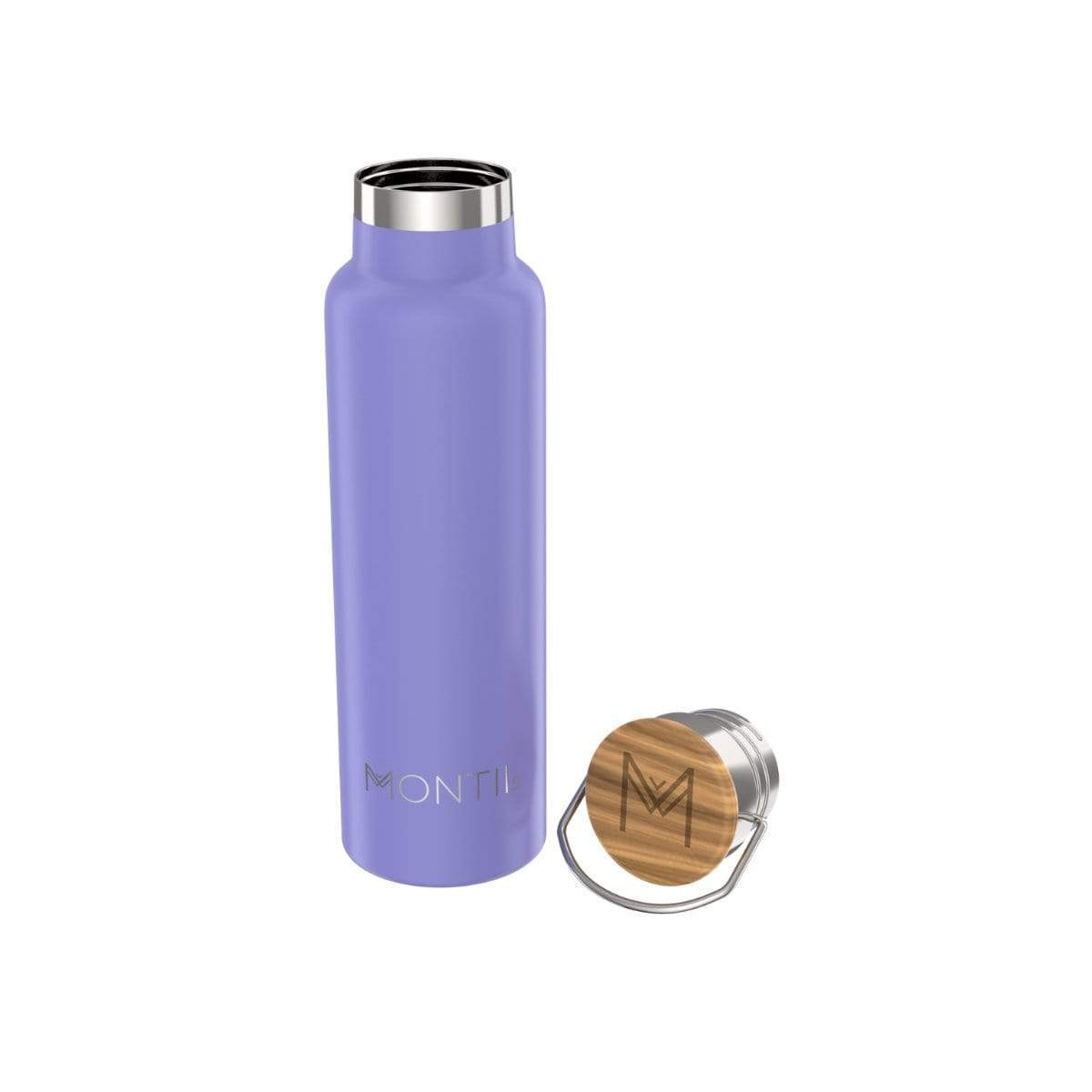 Montii Co Insulated Bottle 600ml Montii Water Bottles Violet at Little Earth Nest Eco Shop