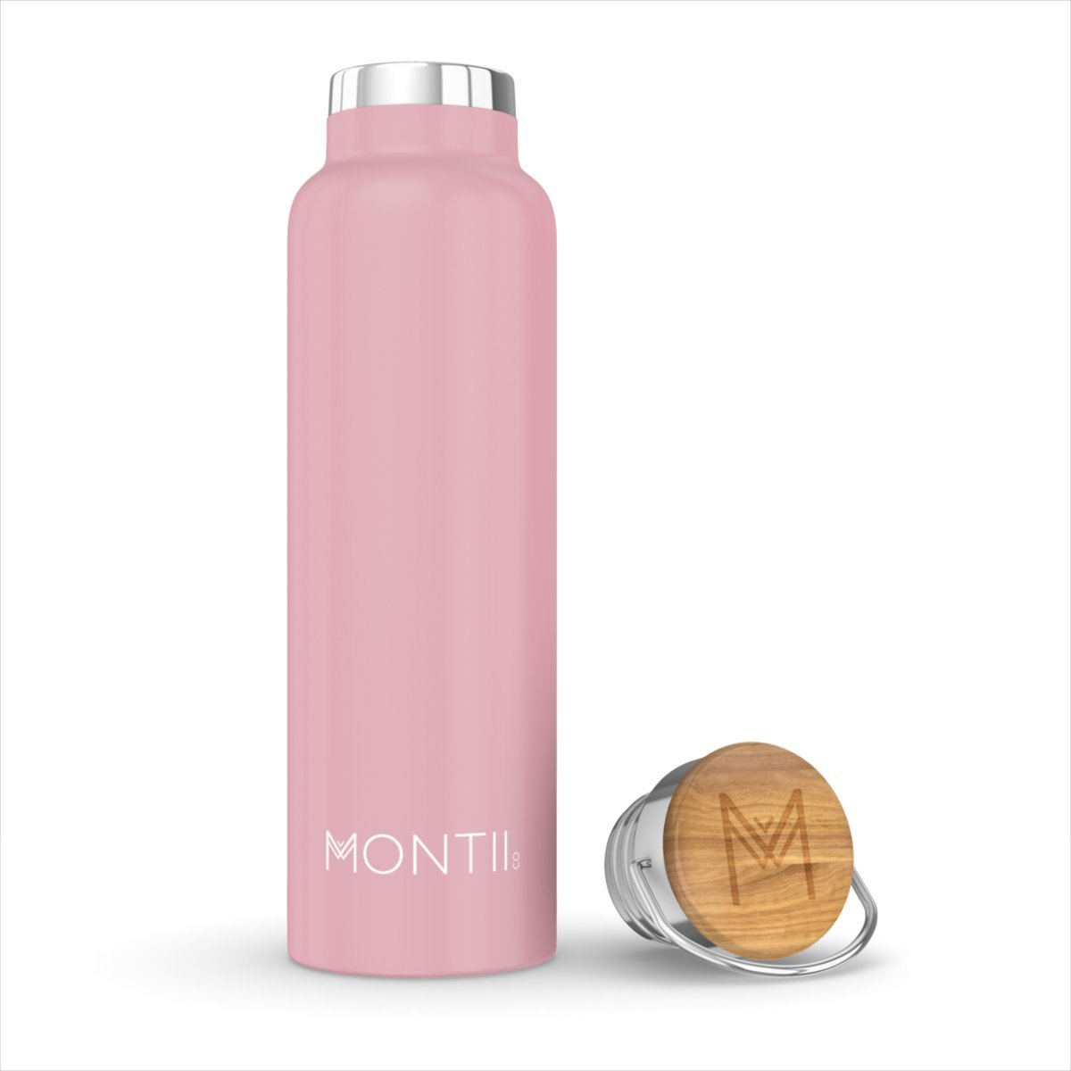 Montii Co Insulated Bottle 600ml Montii Water Bottles Dusty Pink at Little Earth Nest Eco Shop