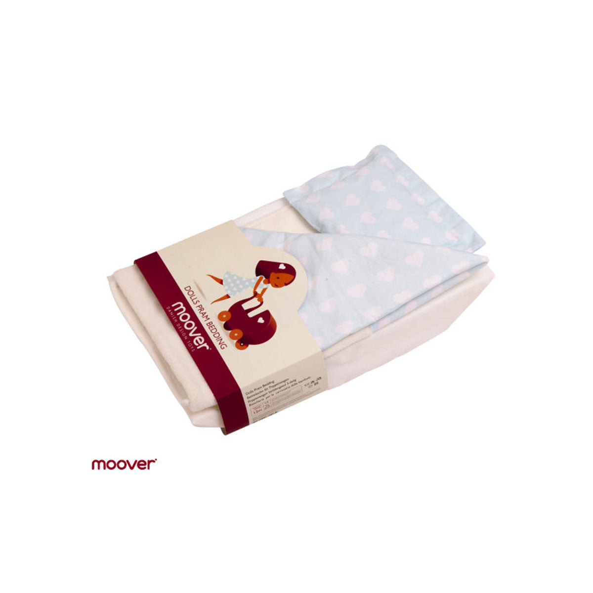Moover Pram Dolls Bedding  Blue and White - Moover Toys - Little Earth Nest - 4