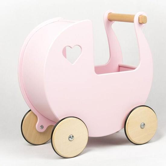Moover Dolls Pram Moover Toys Pretend Play Baby Pink at Little Earth Nest Eco Shop