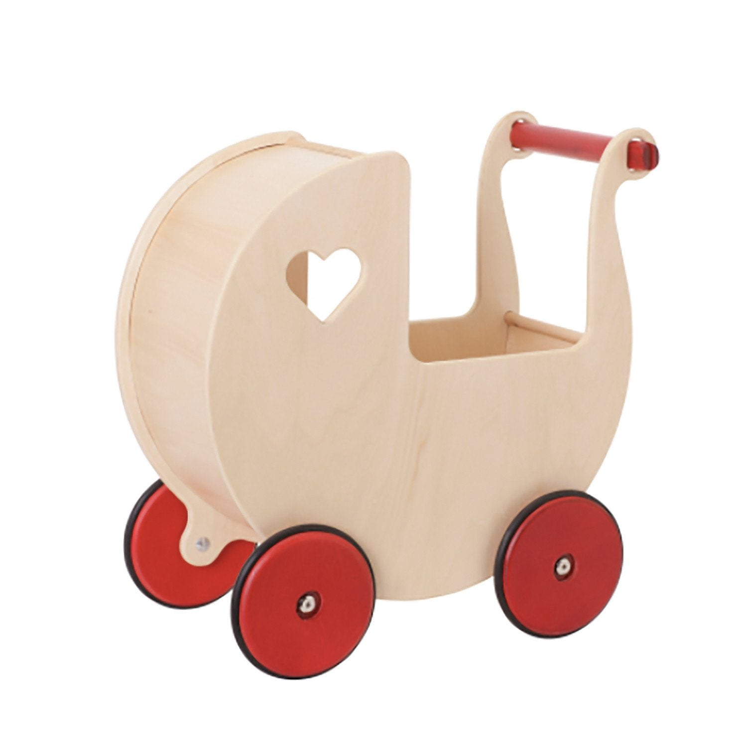 Moover Dolls Pram Moover Toys Pretend Play Natural at Little Earth Nest Eco Shop