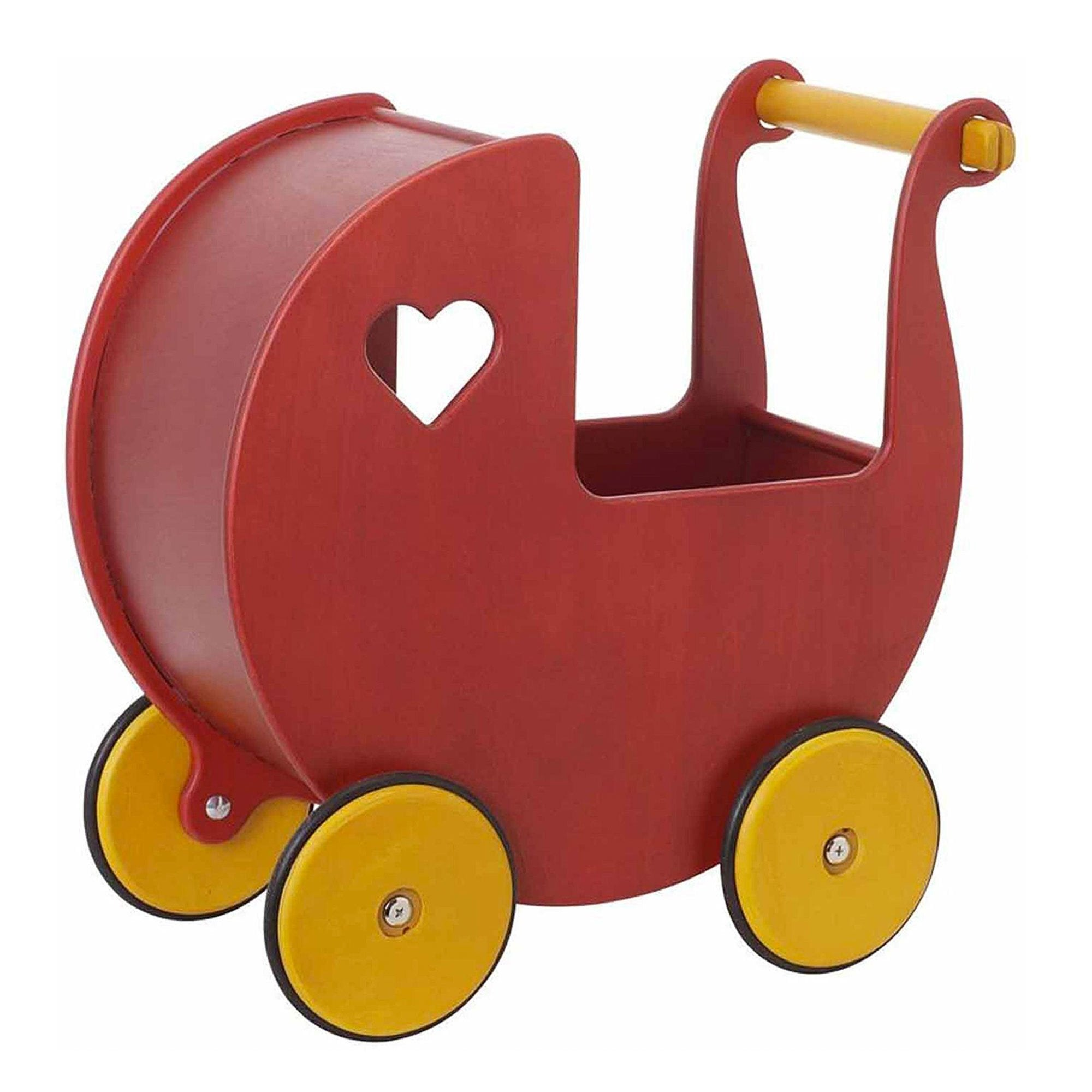 Moover Dolls Pram Moover Toys Pretend Play Red at Little Earth Nest Eco Shop