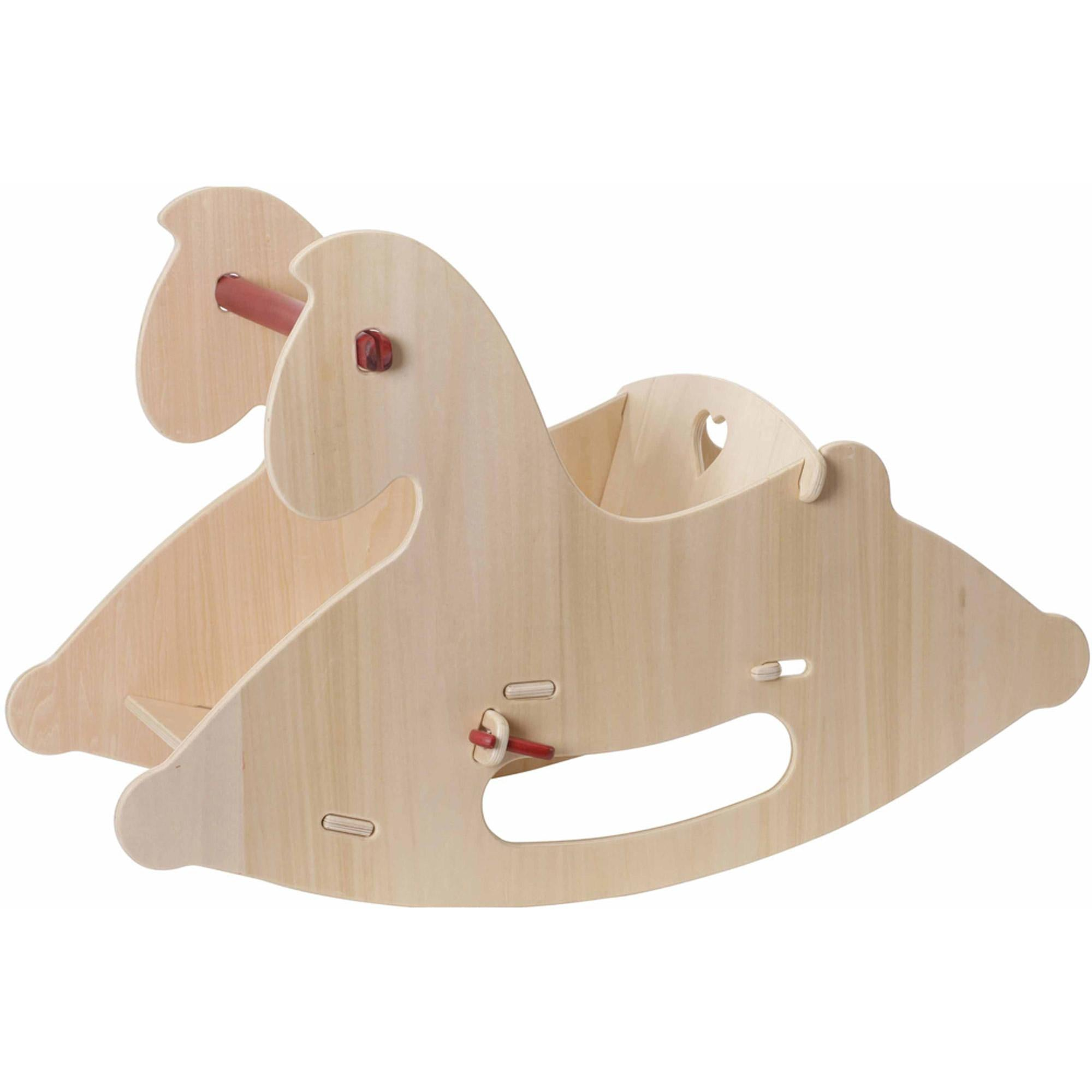 Moover Wooden Rocking Horse Moover Toys Hobby Horses Natural at Little Earth Nest Eco Shop