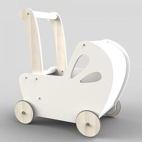 Moover Line Dolls Pram Moover Toys Dolls, Playsets & Toy Figures White at Little Earth Nest Eco Shop