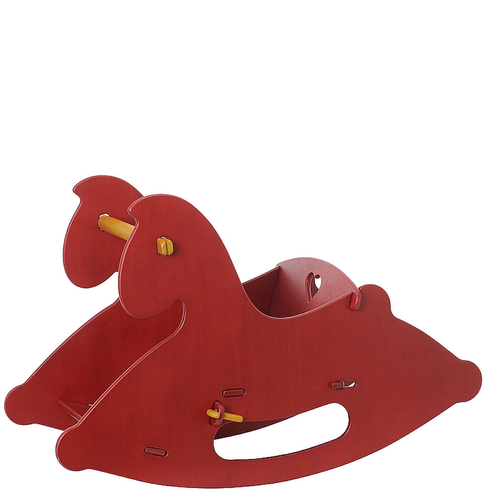Moover Wooden Rocking Horse Moover Toys Hobby Horses Red at Little Earth Nest Eco Shop