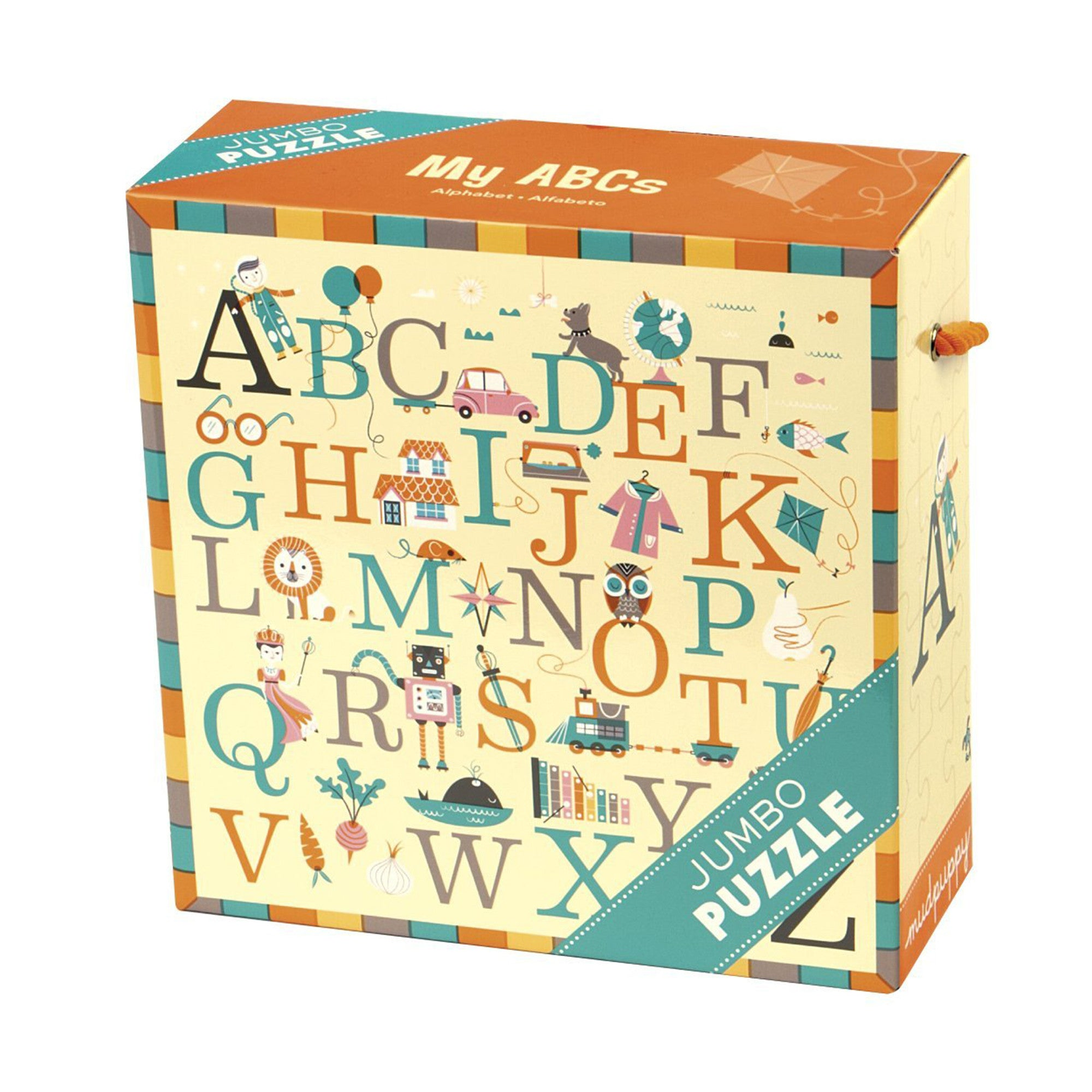 MudPuppy Jumbo Puzzle 25 Piece Mudpuppy Puzzles ABC's at Little Earth Nest Eco Shop