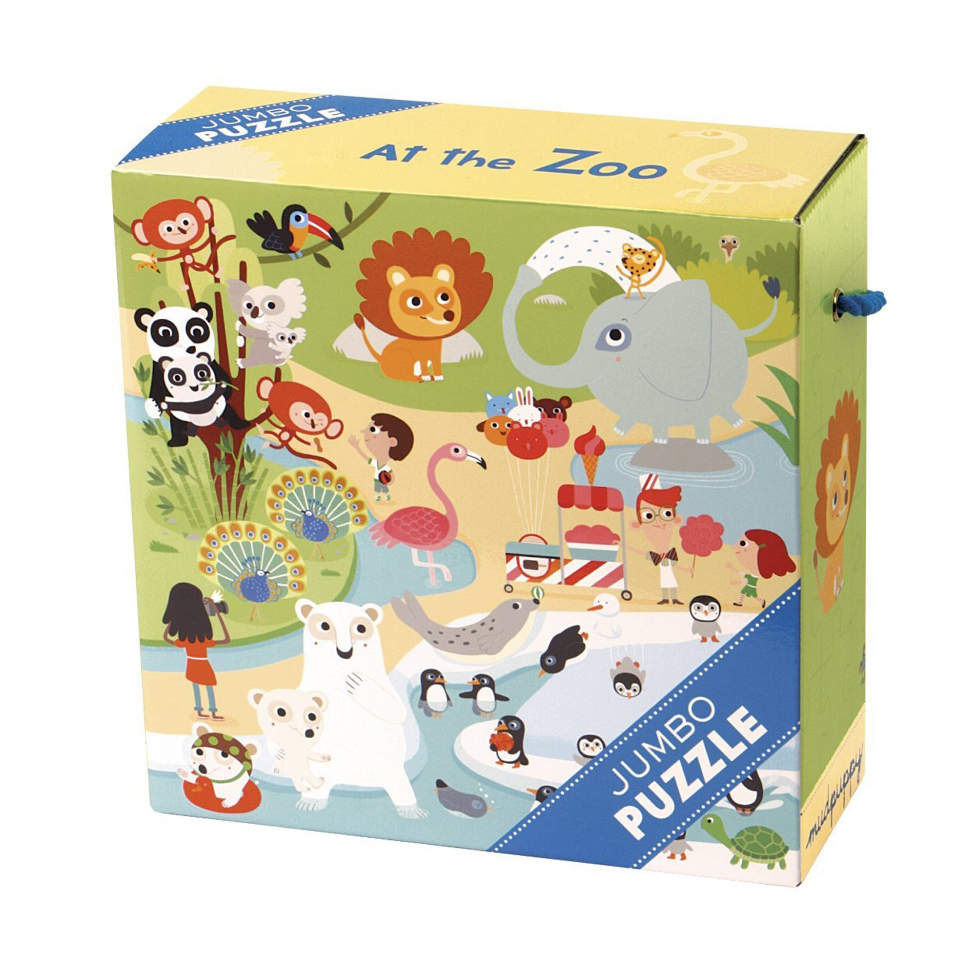 MudPuppy Jumbo Puzzle 25 Piece Mudpuppy Puzzles At The Zoo at Little Earth Nest Eco Shop