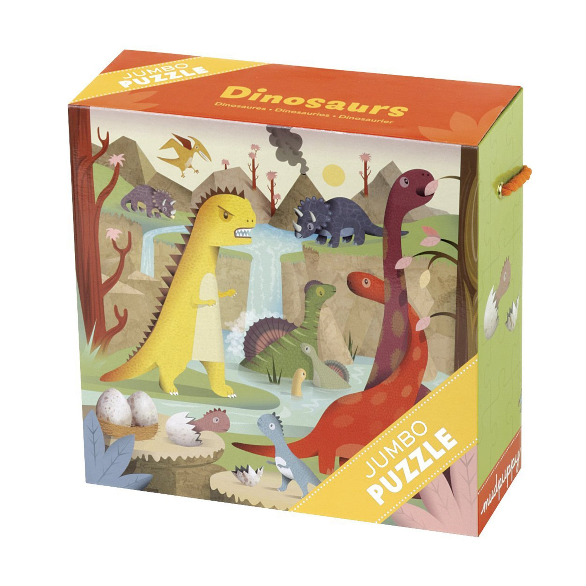 MudPuppy Jumbo Puzzle 25 Piece Mudpuppy Puzzles Dinosaurs at Little Earth Nest Eco Shop