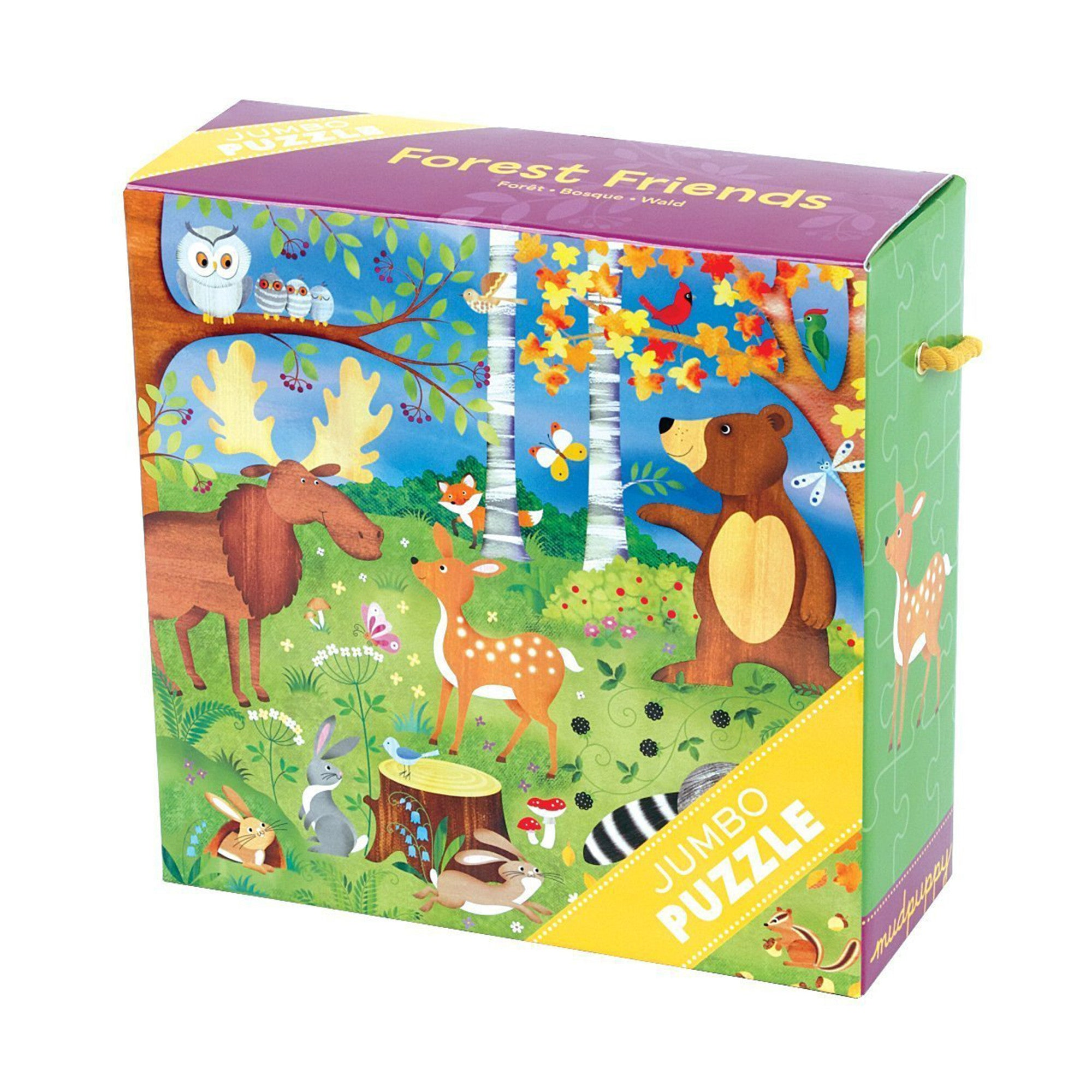 MudPuppy Jumbo Puzzle 25 Piece Mudpuppy Puzzles Forest Friends at Little Earth Nest Eco Shop