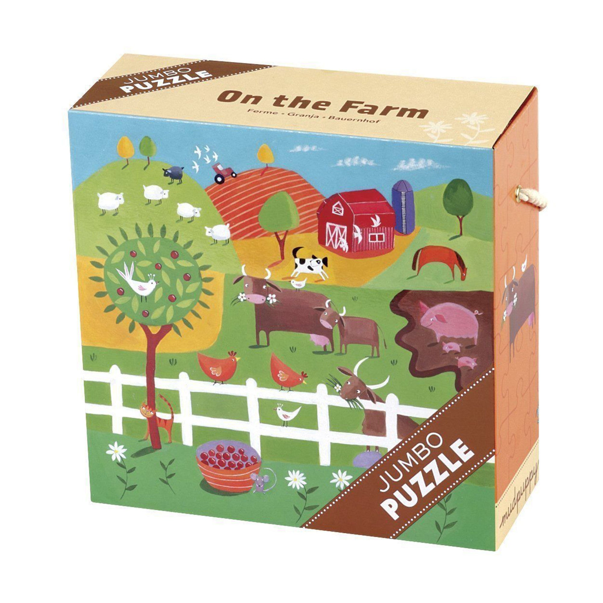 MudPuppy Jumbo Puzzle 25 Piece Mudpuppy Puzzles On The Farm at Little Earth Nest Eco Shop
