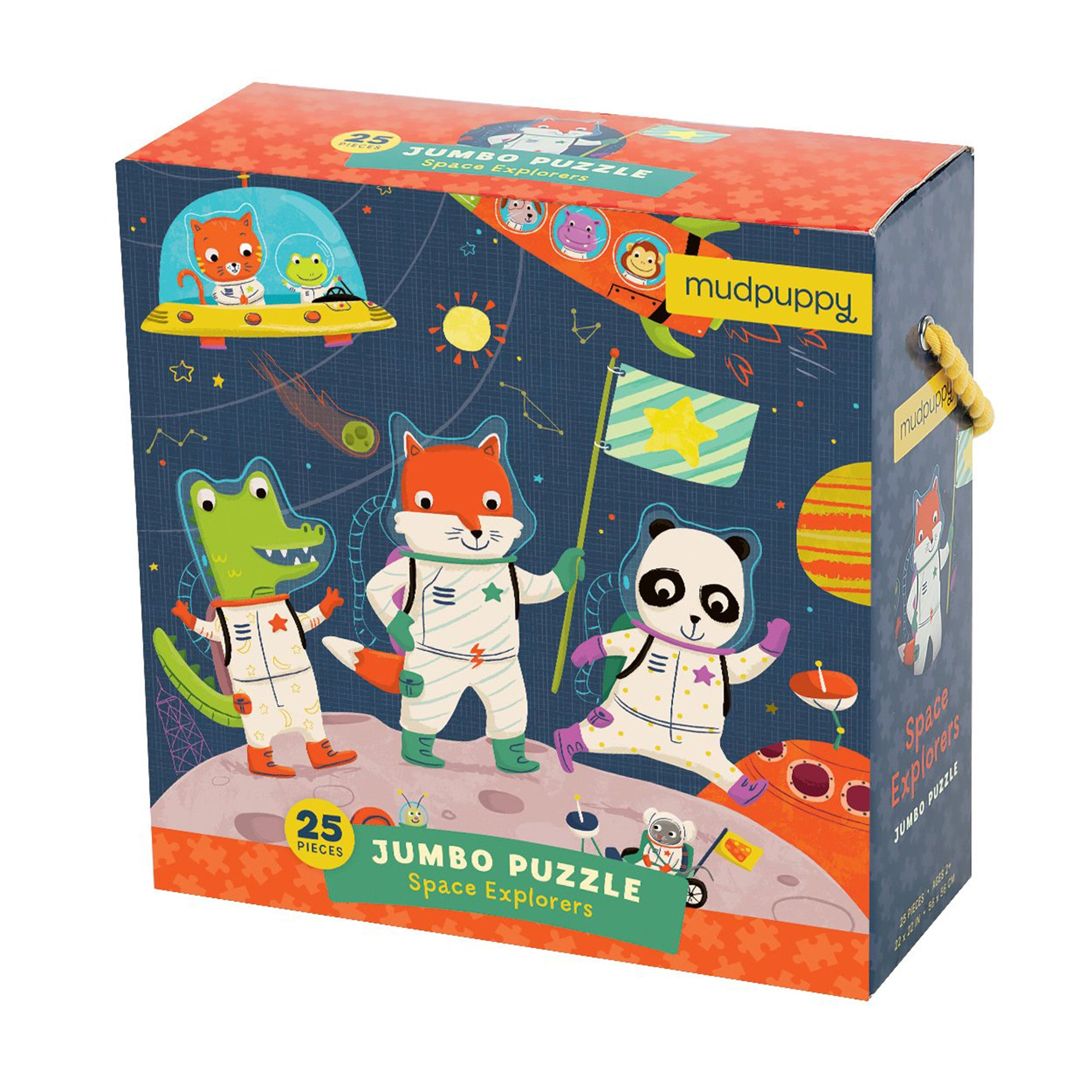 MudPuppy Jumbo Puzzle 25 Piece Mudpuppy Puzzles Space Explorers at Little Earth Nest Eco Shop