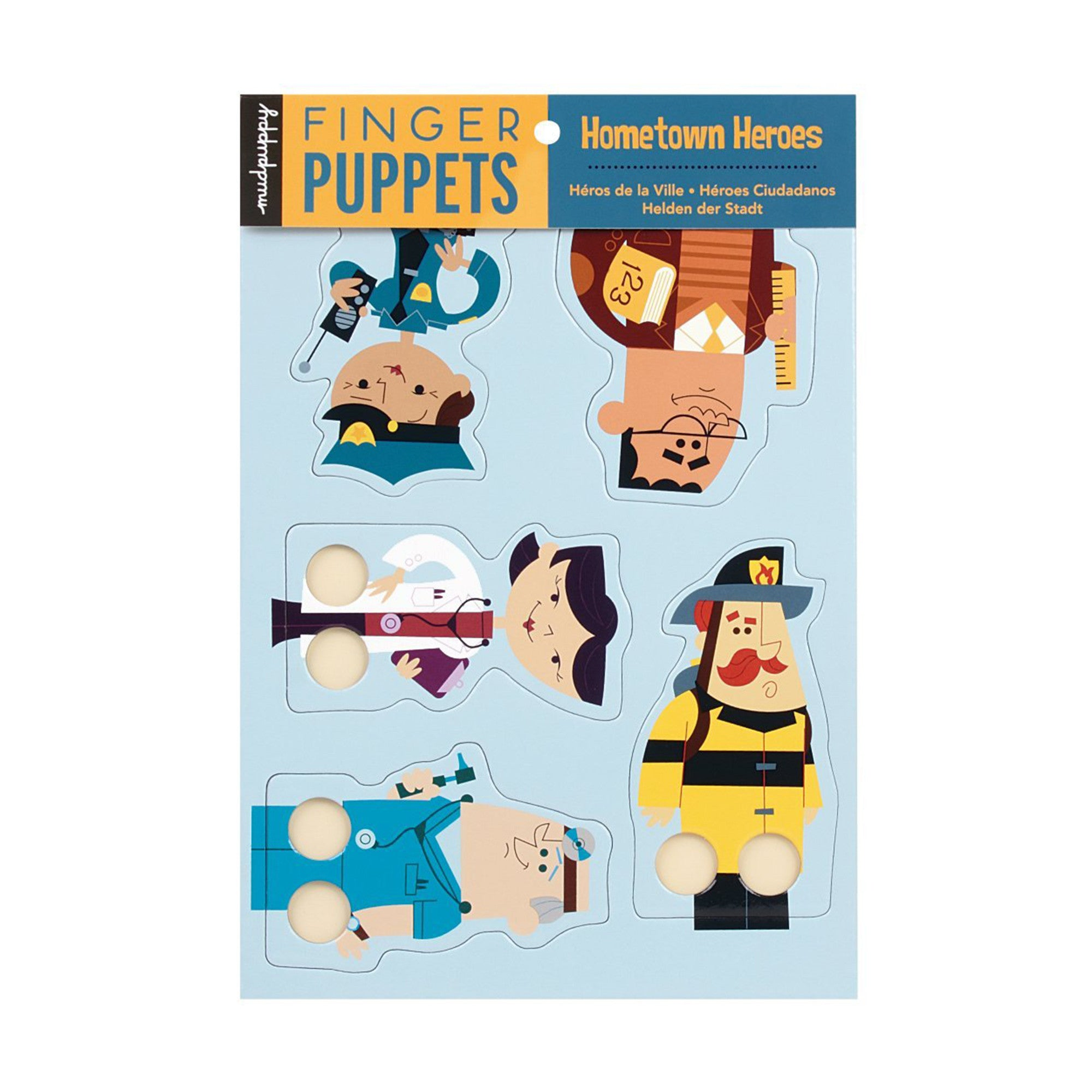 Mudpuppy Finger Puppets Mudpuppy Finger Puppet Hometown Heroes at Little Earth Nest Eco Shop