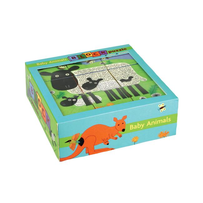 Mudpuppy Block Puzzle Mudpuppy Puzzles Baby Animals at Little Earth Nest Eco Shop