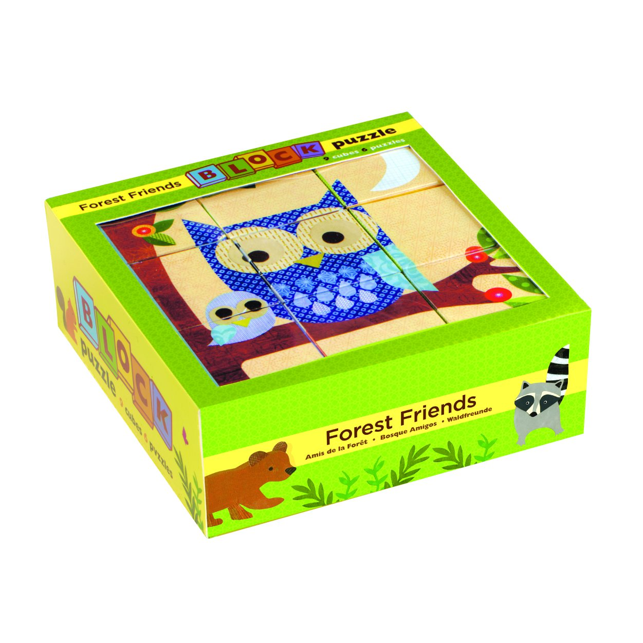 Mudpuppy Block Puzzle Mudpuppy Puzzles Forest Friends at Little Earth Nest Eco Shop