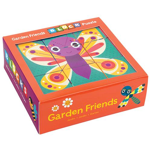Mudpuppy Block Puzzle Mudpuppy Puzzles Garden Friends at Little Earth Nest Eco Shop