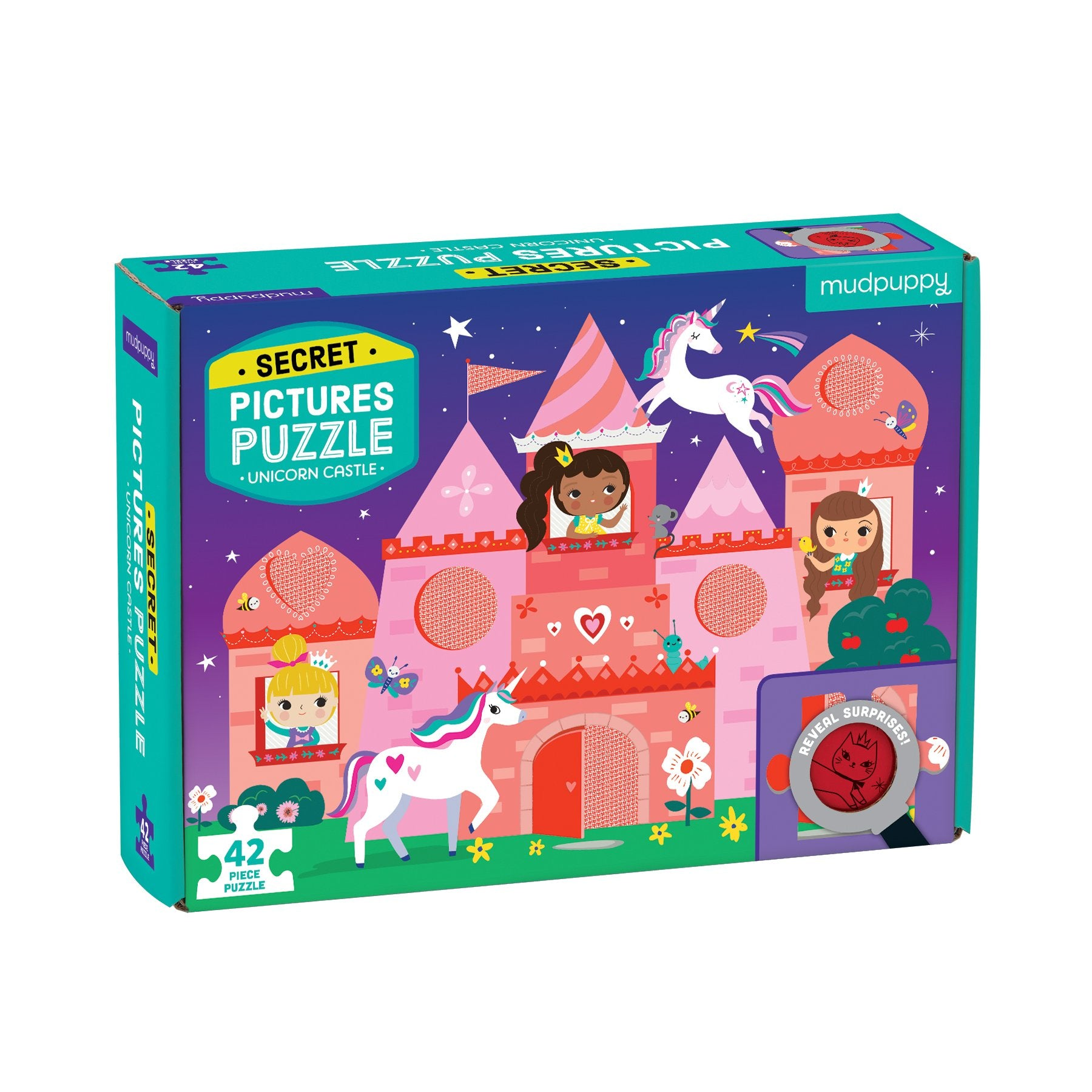 Mudpuppy Secret Pictures Puzzle Mudpuppy Puzzles Unicorn Castle at Little Earth Nest Eco Shop