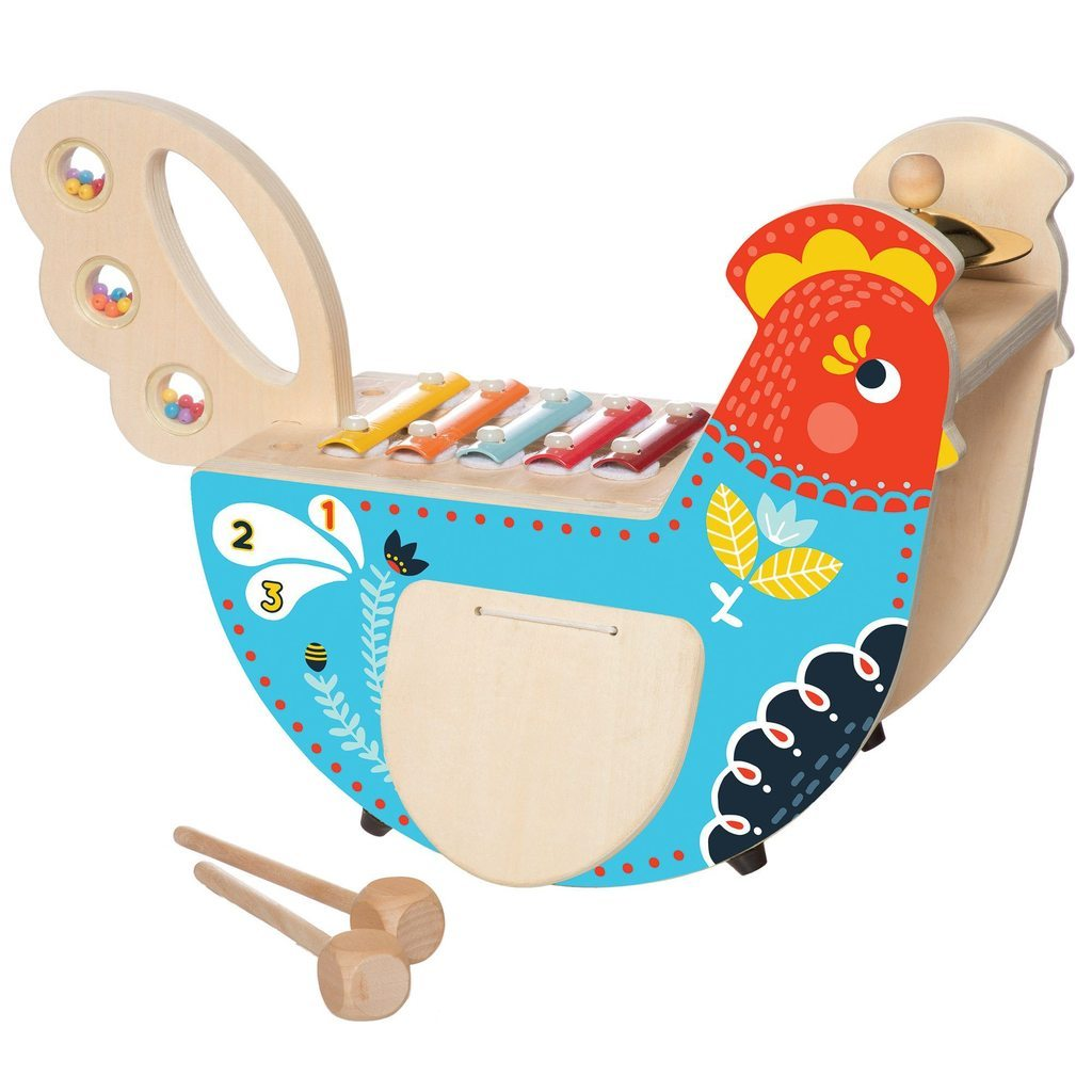 Musical Chicken Manhattan Toy Musical Toys at Little Earth Nest Eco Shop