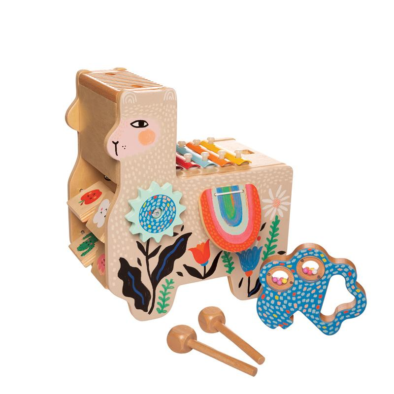 Musical Lili Llama Manhattan Toy Musical Toys at Little Earth Nest Eco Shop