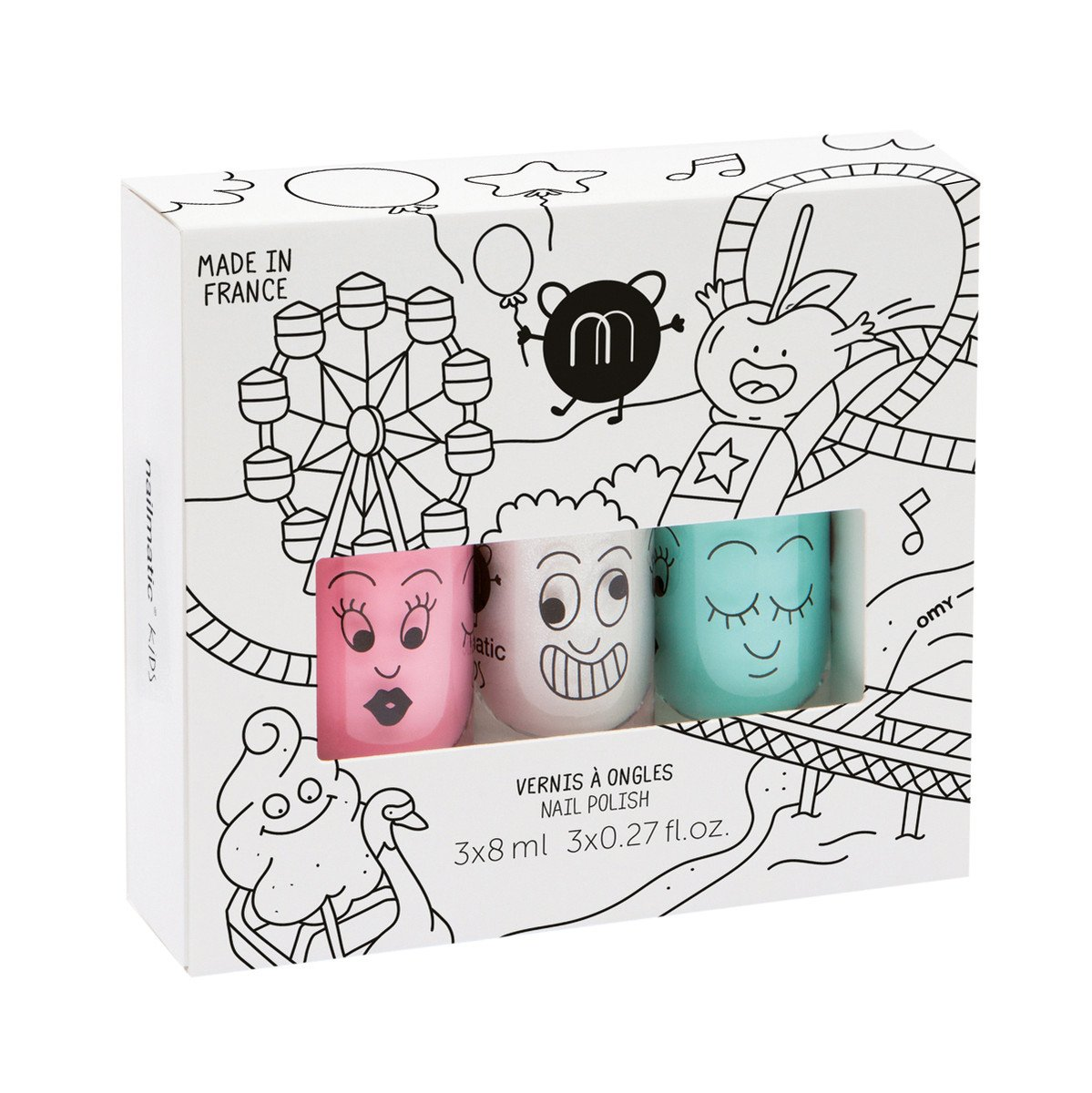 Nailmatic Kids Nail Polish Set of 3 Nailmatic Nail Polish at Little Earth Nest Eco Shop
