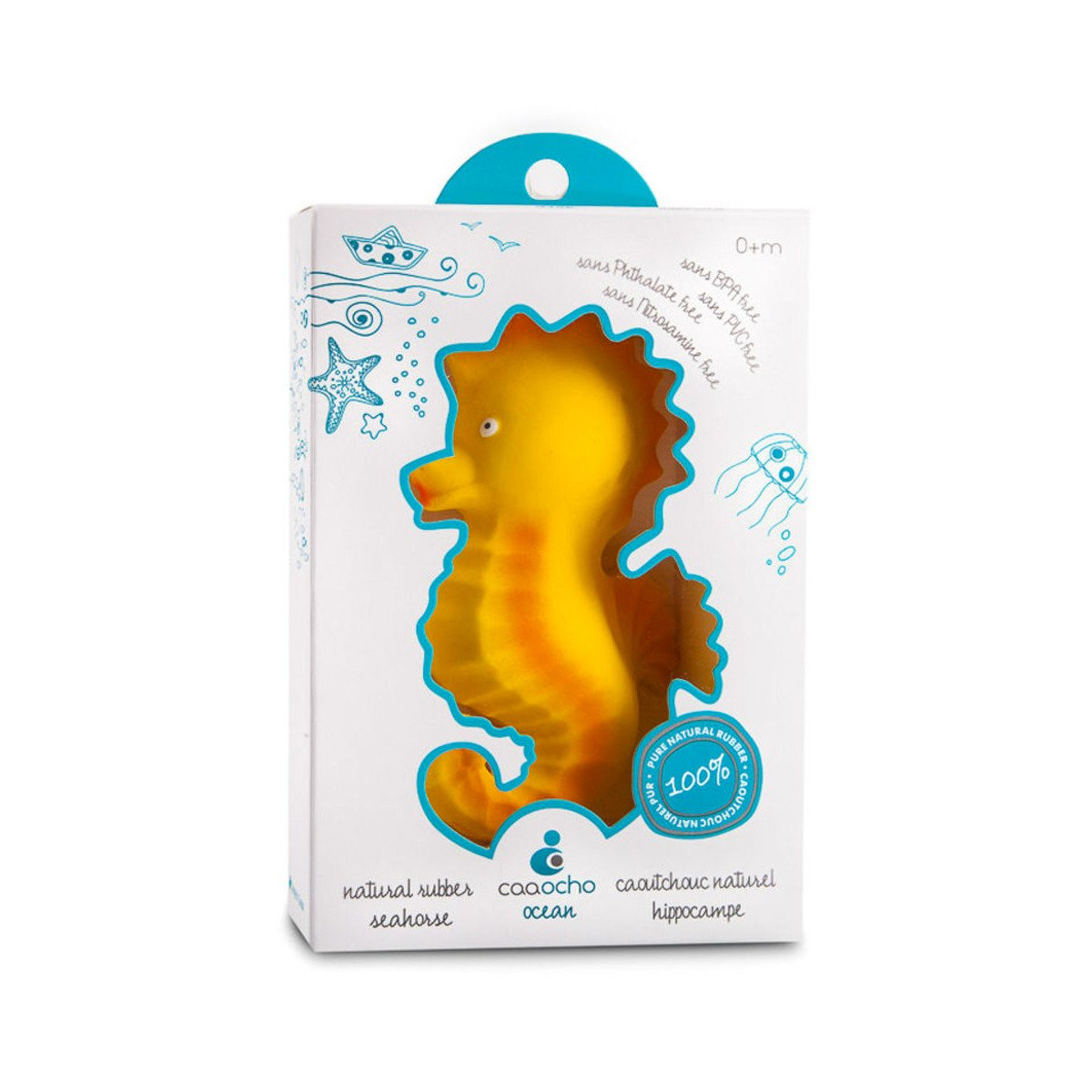 Caaocho Nalu Seahorse Caaocho Dummies and Teethers at Little Earth Nest Eco Shop