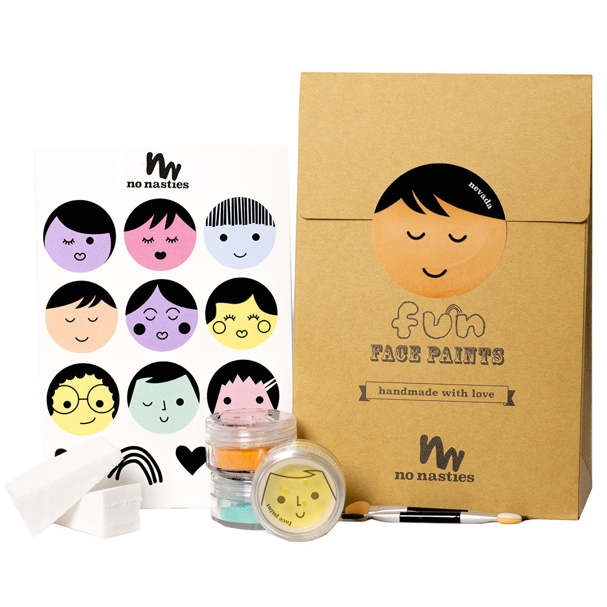No Nasties Fun Natural Face Paint No Nasties Play Make Up Goody Pack at Little Earth Nest Eco Shop