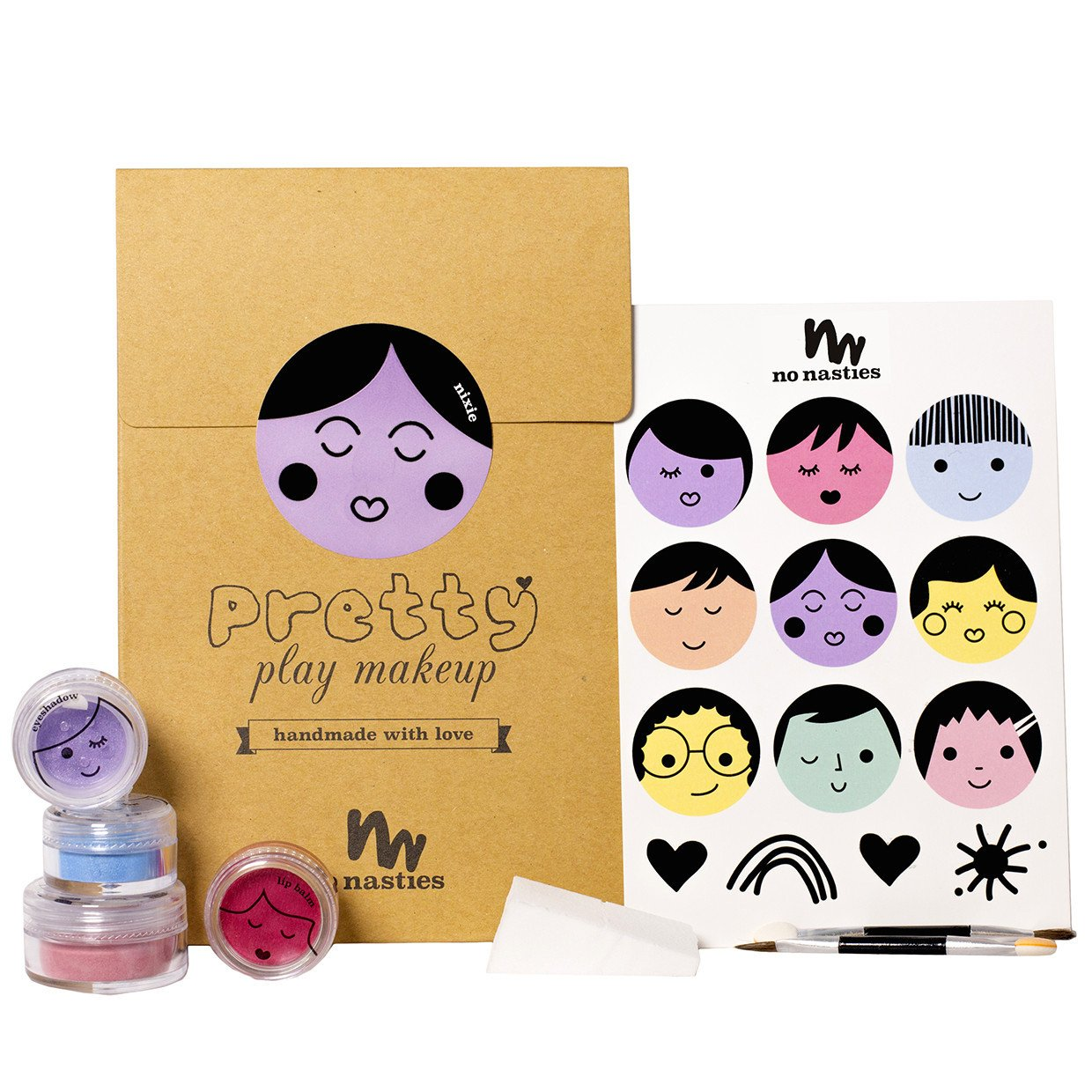 No Nasties Natural Play Make Up No Nasties Play Make Up Goody Pack / Purple at Little Earth Nest Eco Shop