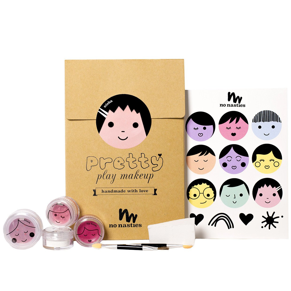 No Nasties Natural Play Make Up No Nasties Play Make Up Goody Pack / Pink at Little Earth Nest Eco Shop