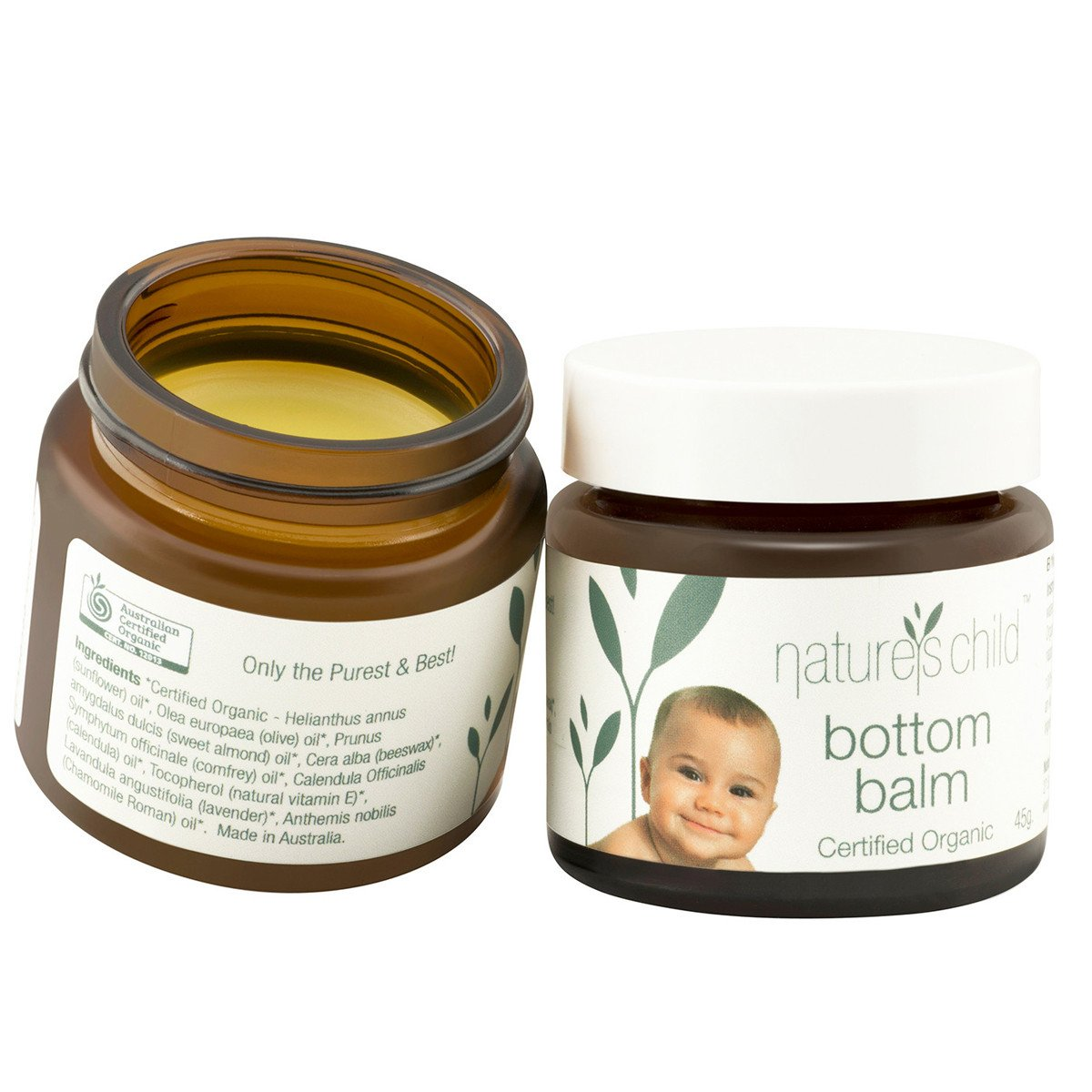 Natures Child Bottom Balm 45g Natures Child Nappy Rash Treatments at Little Earth Nest Eco Shop
