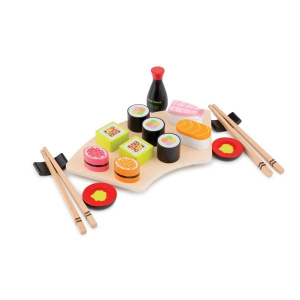 Wooden Toy Sushi Set by New Classic Toys New Classic Toys Pretend Play at Little Earth Nest Eco Shop