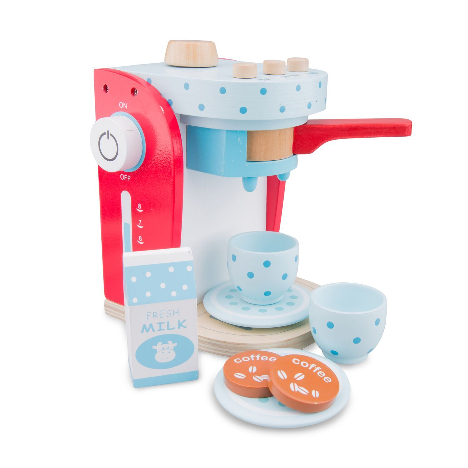 New Classic Toys Coffee Machine New Classic Toys Pretend Play at Little Earth Nest Eco Shop