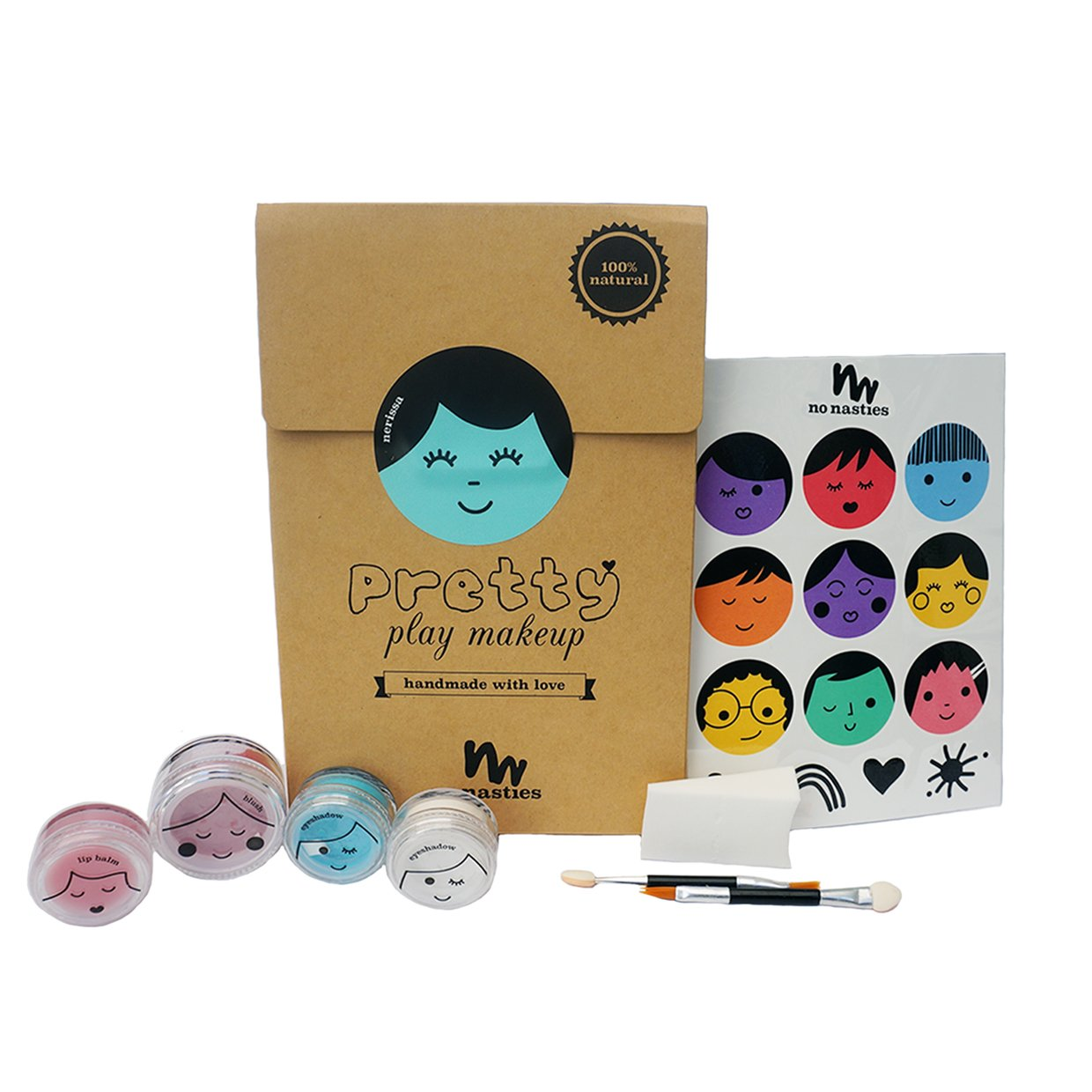No Nasties Natural Play Make Up No Nasties Play Make Up Goody Pack / Turquoise at Little Earth Nest Eco Shop