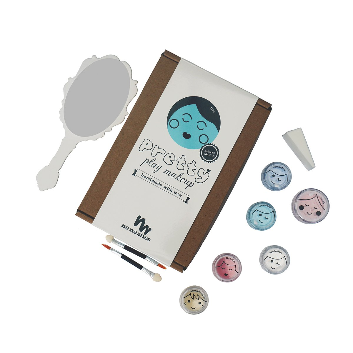 No Nasties Natural Play Make Up No Nasties Play Make Up Deluxe Pack / Turquoise at Little Earth Nest Eco Shop