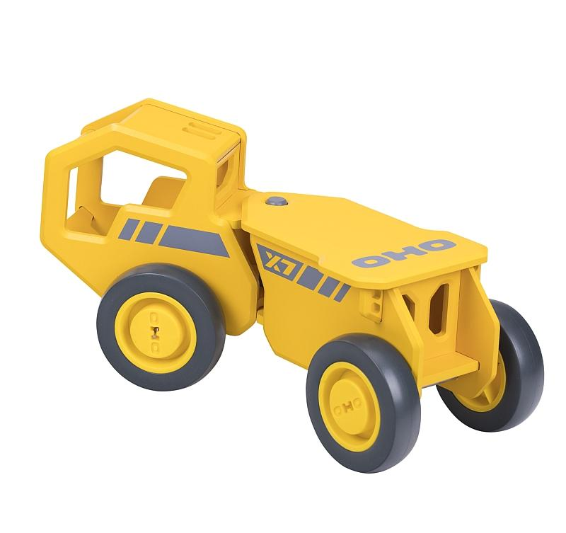 OHO Yellow Construction Ride On Toy Moover Toys Toy Cars at Little Earth Nest Eco Shop