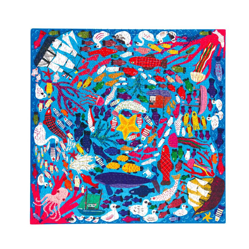 Below the Surface 1008 Piece Puzzle Eeboo Puzzles at Little Earth Nest Eco Shop