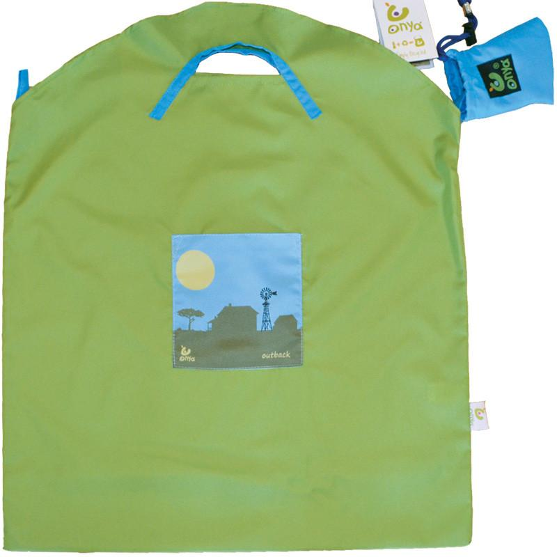 Onya Reusable Shopping Bag Onya Lifestyle Small / Green Outback at Little Earth Nest Eco Shop