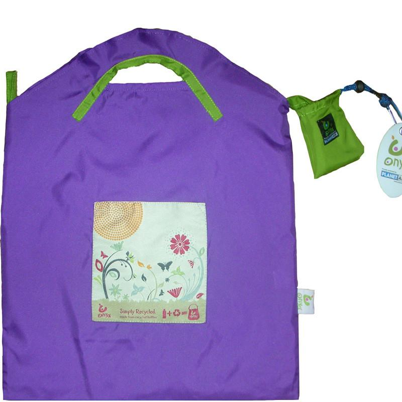 Onya Reusable Shopping Bag Onya Lifestyle Small / Purple Garden at Little Earth Nest Eco Shop