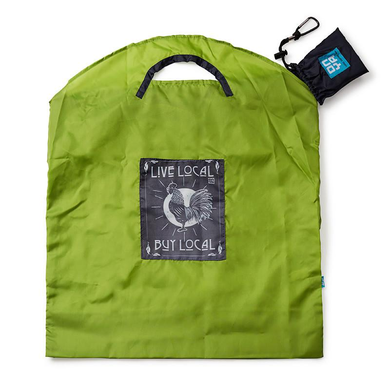 Onya Reusable Shopping Bag Onya Lifestyle Small / Green Live Local at Little Earth Nest Eco Shop