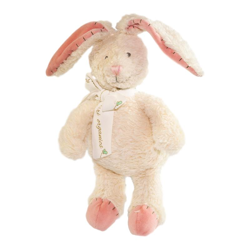 Organic Cotton Bunny Teddy Tikiri Baby Activity Toys at Little Earth Nest Eco Shop