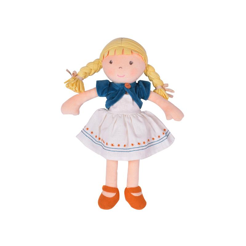 Organic Cotton Doll Bonikka General Lily - Blonde at Little Earth Nest Eco Shop